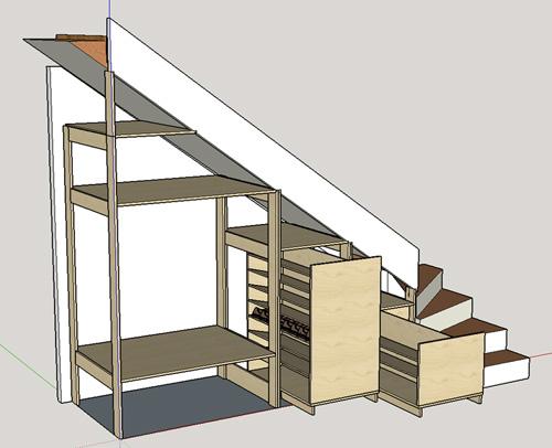 Conception Placard Sous Escalier Copain Des Copeaux